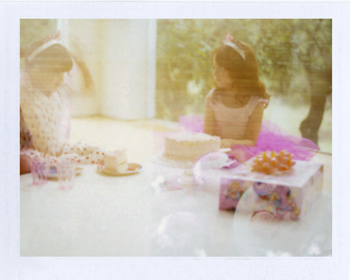 Princess birthday party | Photographer using Polaroid