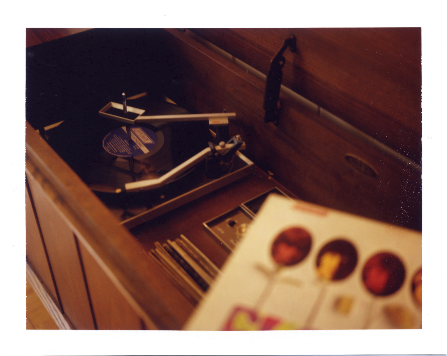 Polaroid of Sears Console and album | Austin Fien Art Photographer