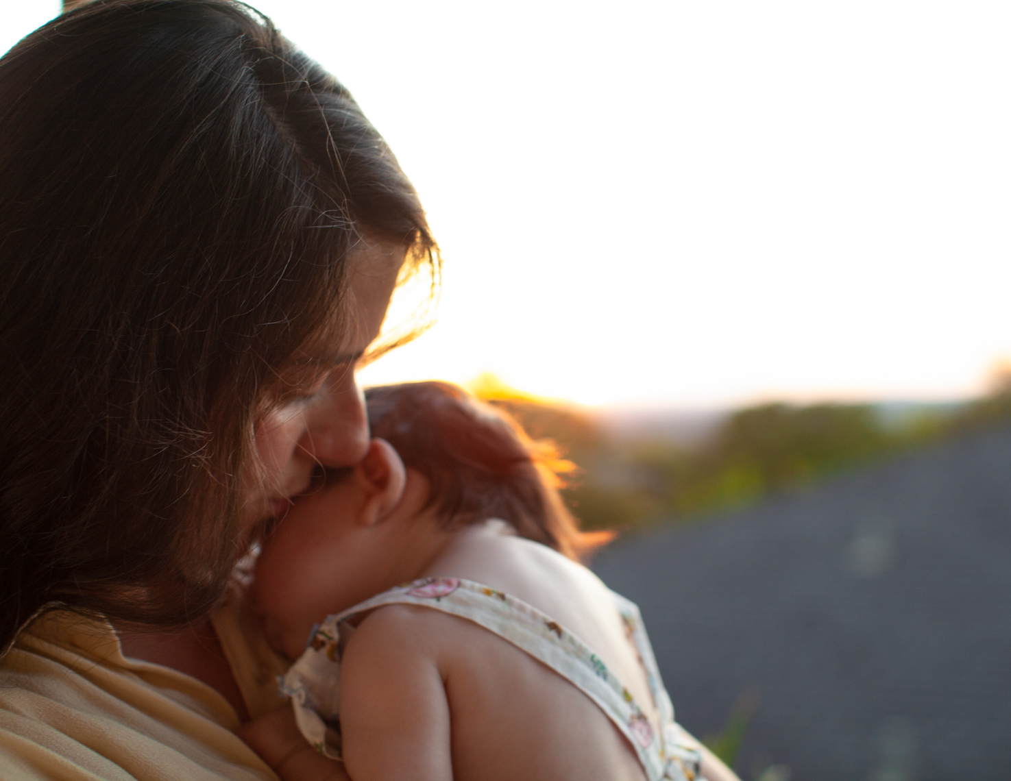 Mom and newborn sunset | Commercial Child Photographer