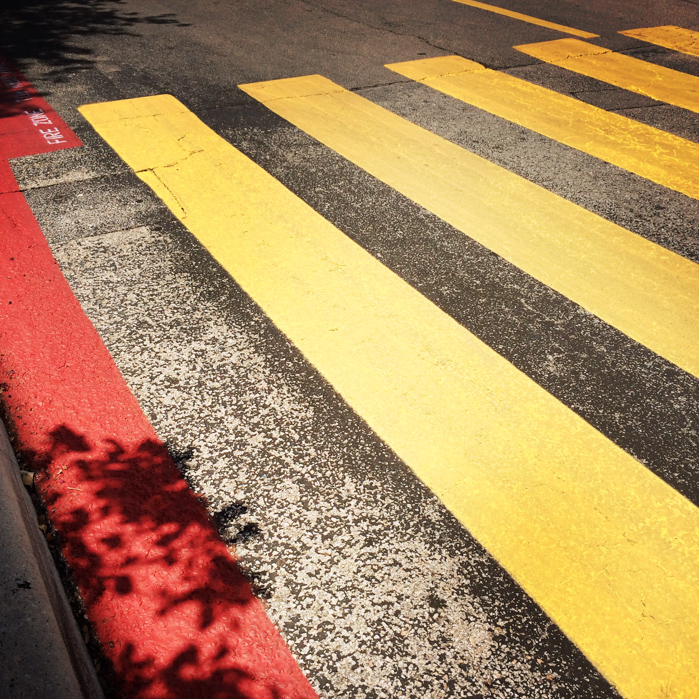 Graphic crosswalk lines | Editorial Travel Photographer