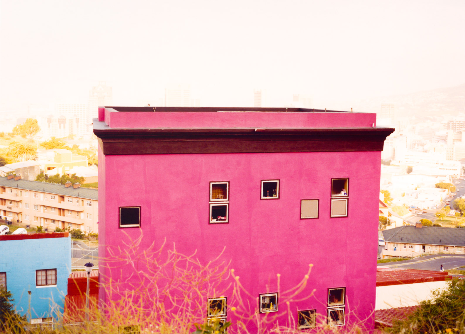 Bright pink South African house | Editorial Travel Photographer